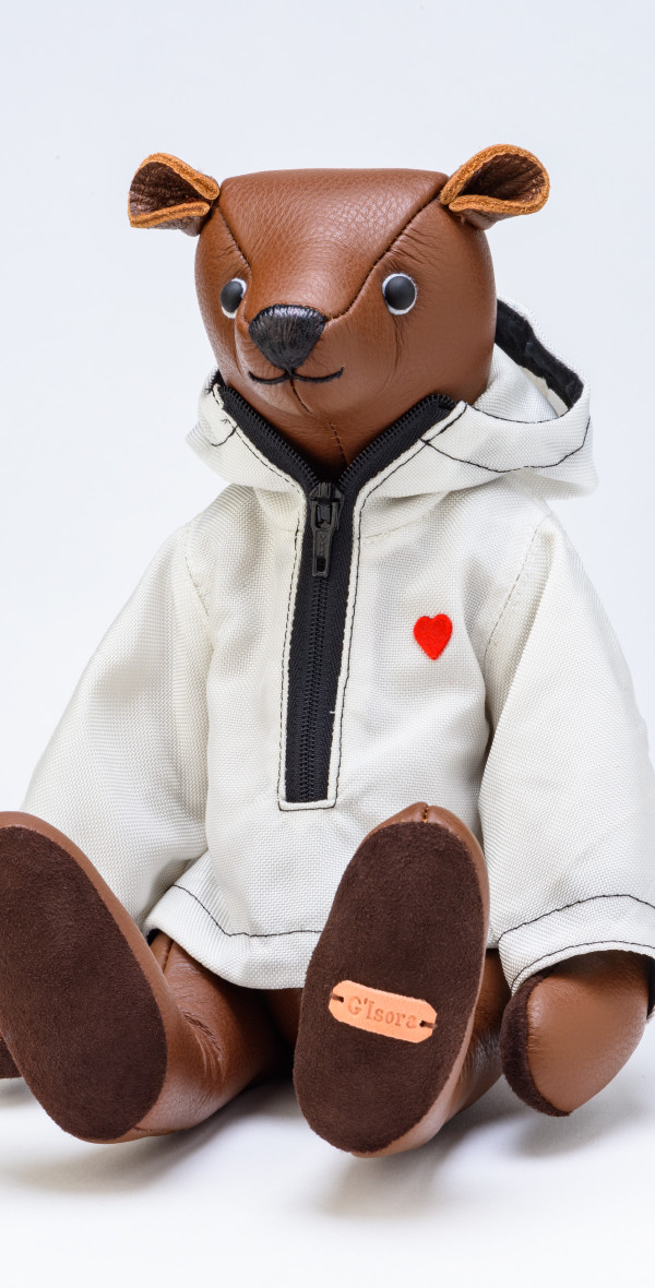 Recycled leather Teddy bear